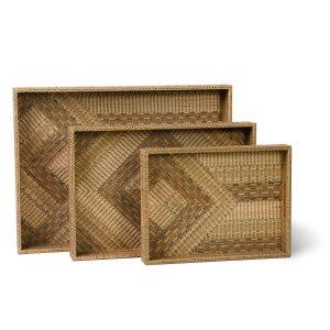 Boho Woven Decorative Trays