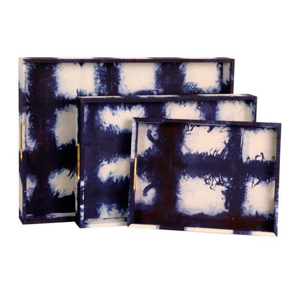 Shibori Decorative Trays