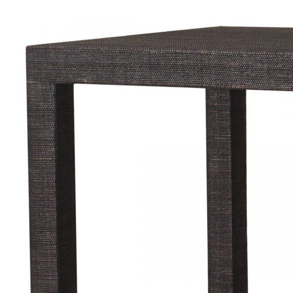 Black Grasscloth Black Side Table