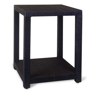 Aneka Tusma Navy Grasscloth Side Tableloth
