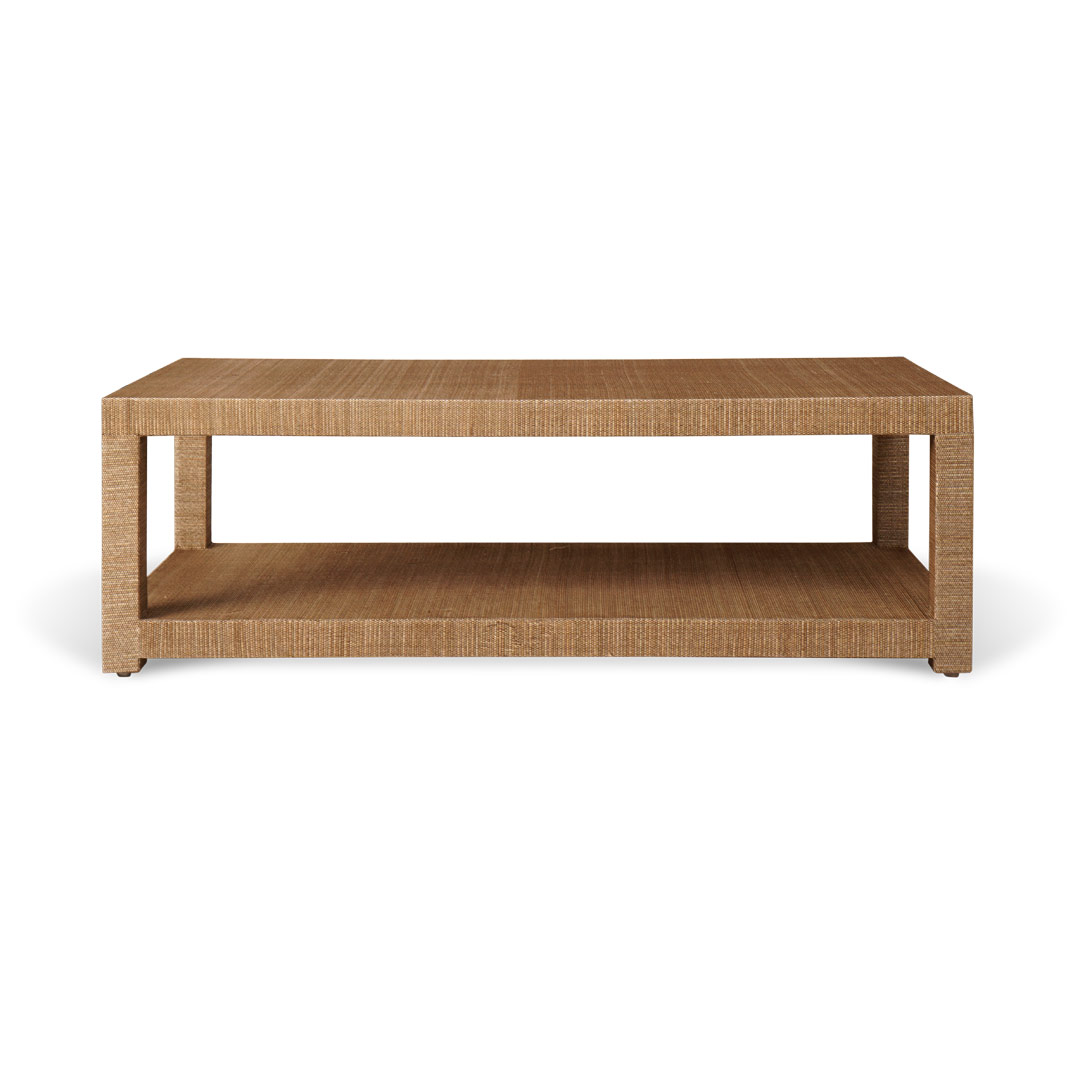 Aneka Tusma Grasscloth Coffee Table