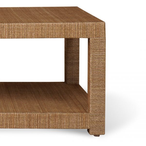 Aneka Tusma Natural Mendong Grasscloth Coffee Table