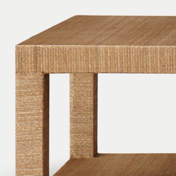Aneka Tusma Grasscloth Coffee Table
