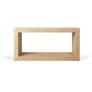 Aneka Tusma Mendong Grasscloth Console Table Front