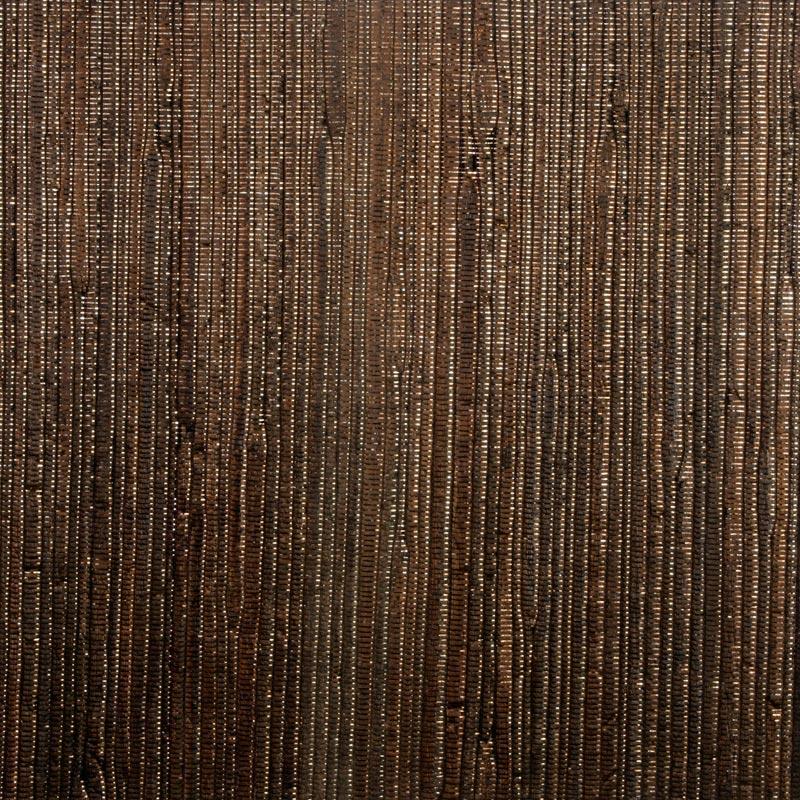 Aneka Tusma Brown Metallic Water Hyacinth Grasscloth