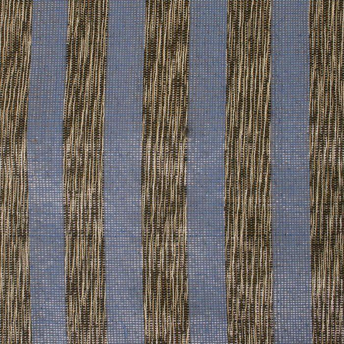 Aneka Tusma Black Silvery Blue Stripe Slub Fabric