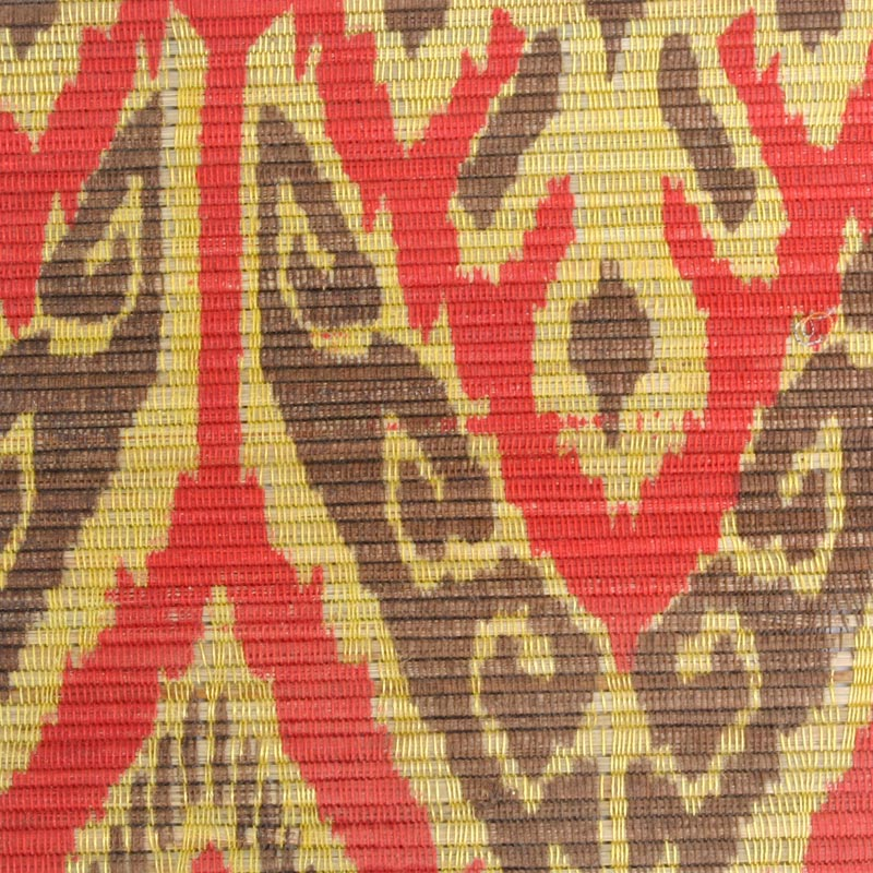 Aneka Tusma Red Yellow Ikat Print Water Hyacinth Grasscloth